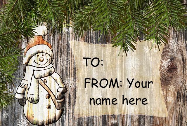 holiday card gift tag public domain
