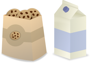 milk and cookies public domain