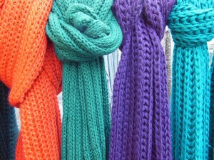 scarves knitting crafts public domain