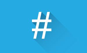 social hashtag hash tag public domain