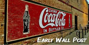 coca cola coke early wall post