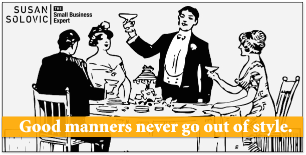 Good manners never go out of style