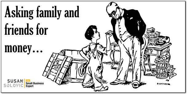asking family for money