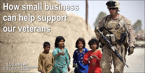 How small business can support veterans