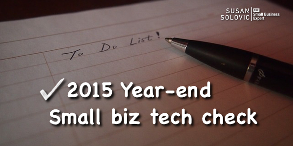 small business year-end technology check list