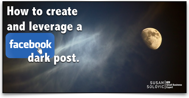 How to do a dark post on facebook