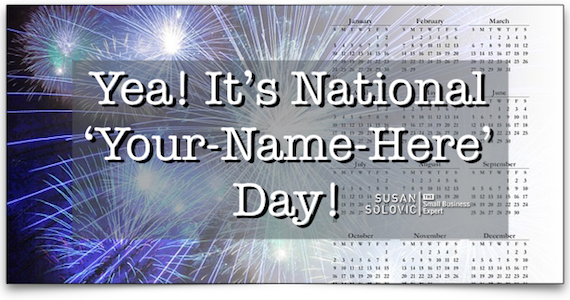 how to create your own holiday or national day