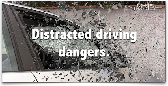 distracted driving dangers to small business