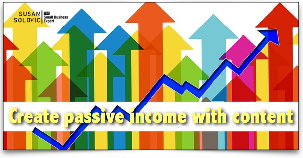 how to create passive income with content